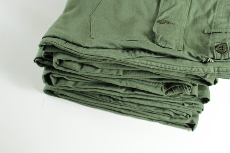 "Rugged and quality. Nothing like ""orSlow"" to purchase fatigue pants."